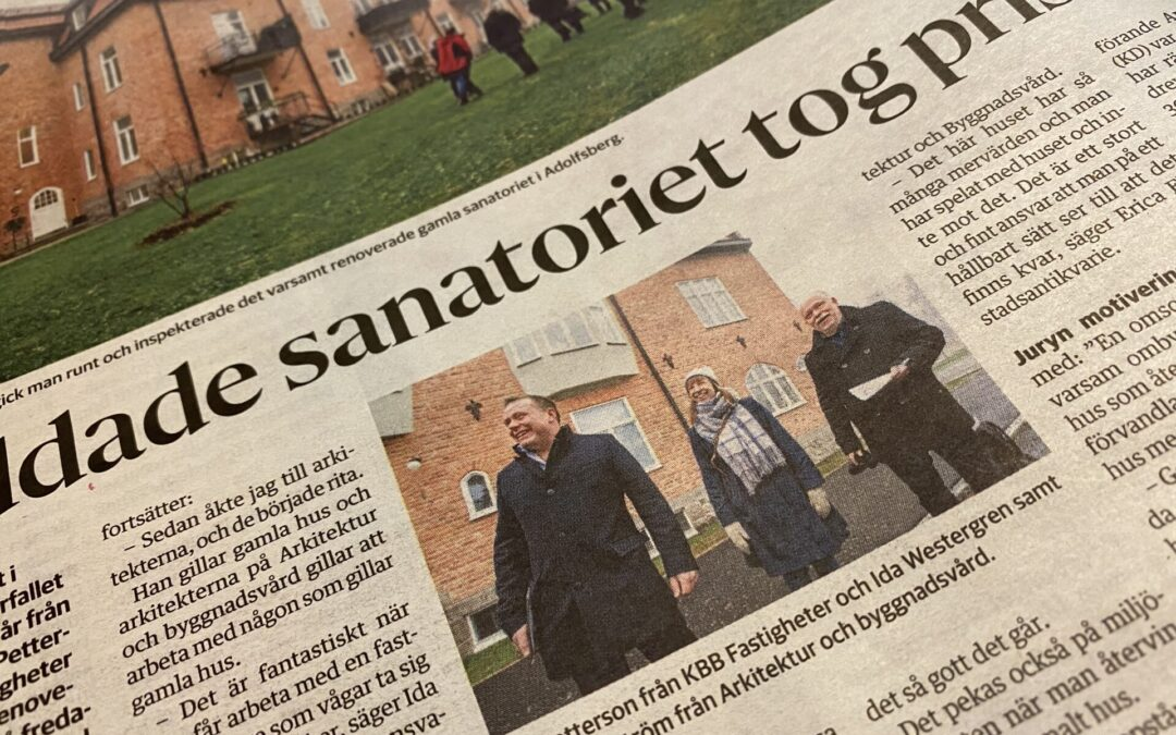 2019 års Byggnadsvårdspris tilldelas Sanatorieskogen 7