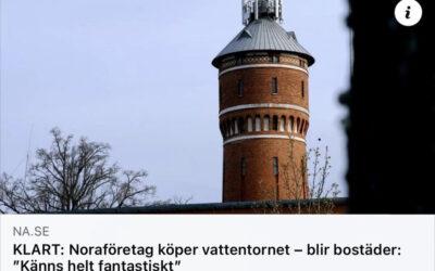 KBB ny ägare till vattentornet i Nora